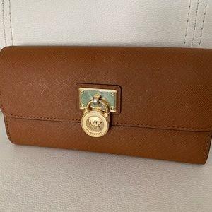 Michael Kors Cognac Brown Wallet